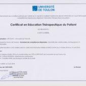 certificat educateur thérapeutique
