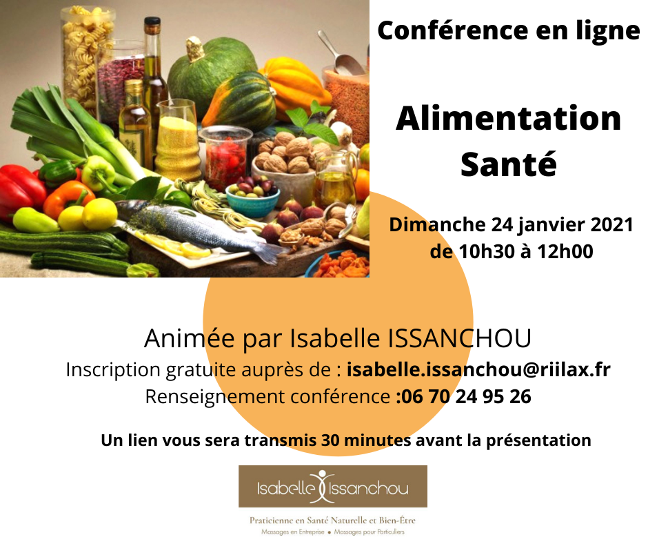 CONFERENCE NATUROPATHIE ALIMENTATION SANTE